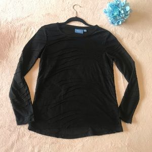 Simply Vera Black Long-sleeve Blouse Size Small